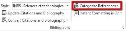 ur- mise en page dans word categories